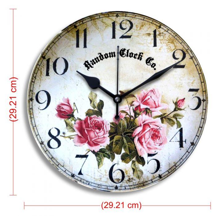 Moon Rose Wooden Wall Clock