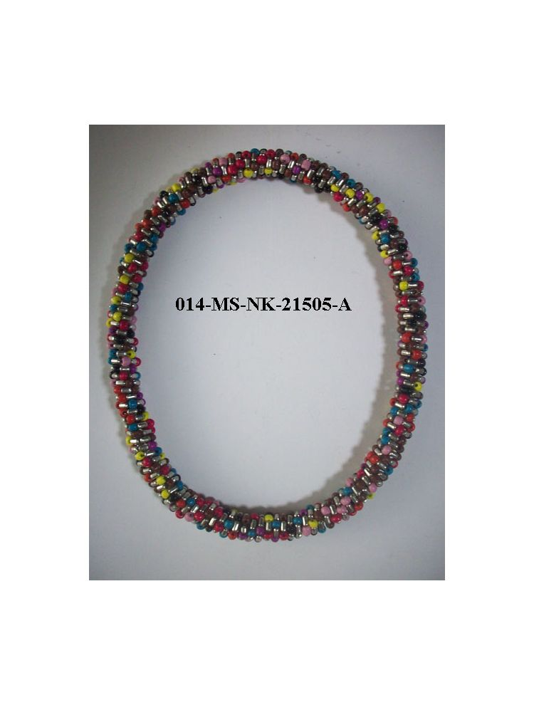 Multi Colour Seed Beads Necklace