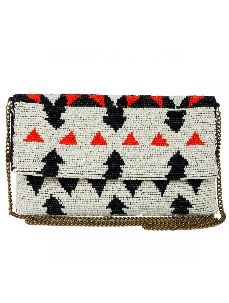 Reggel Beaded Clutch