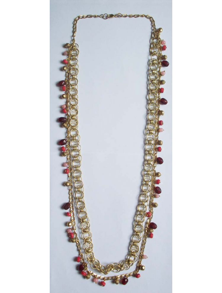 Glass Beads Metal Necklace