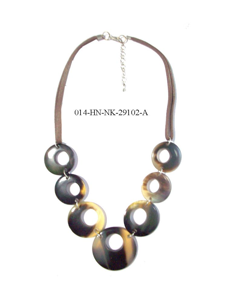 Horn  Ring Necklace