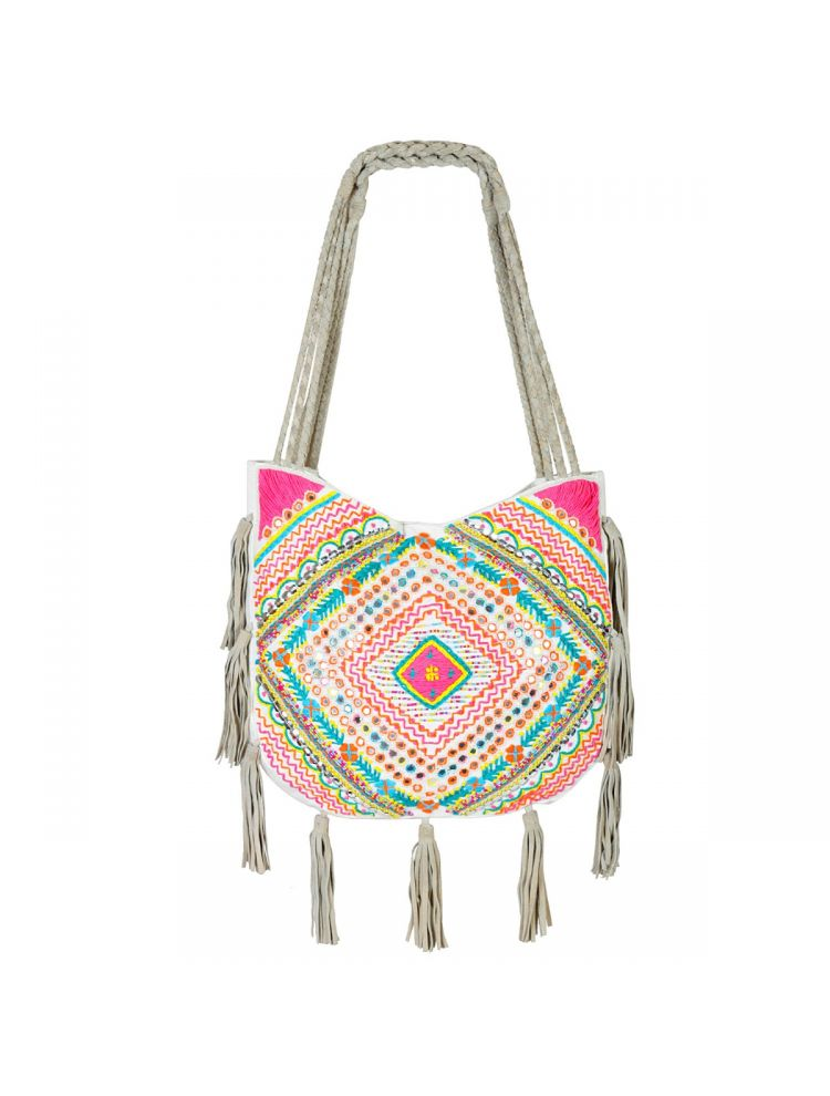 Heavily Embroidered Shoulder Bag