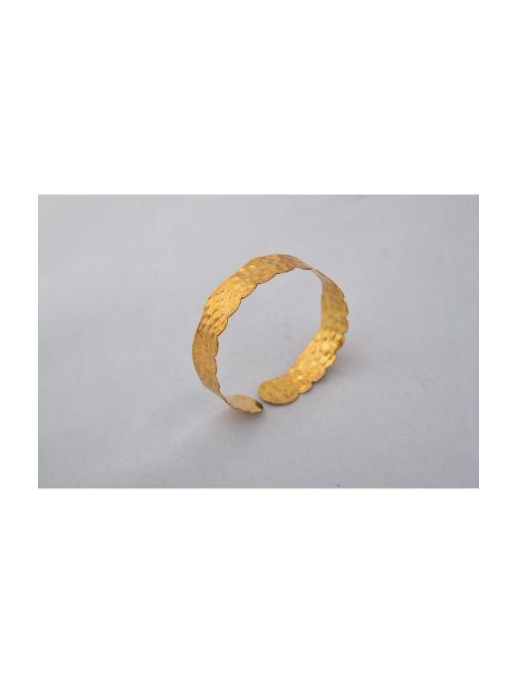 Gold Plated Brass Cuff