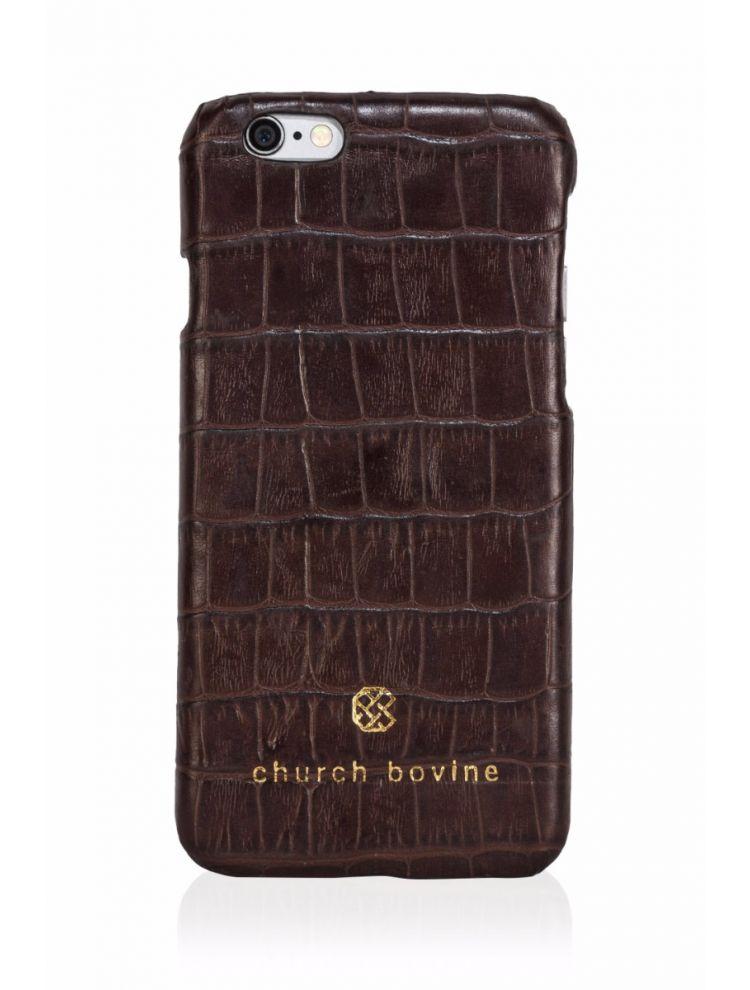 Croco Brown Mobile Case