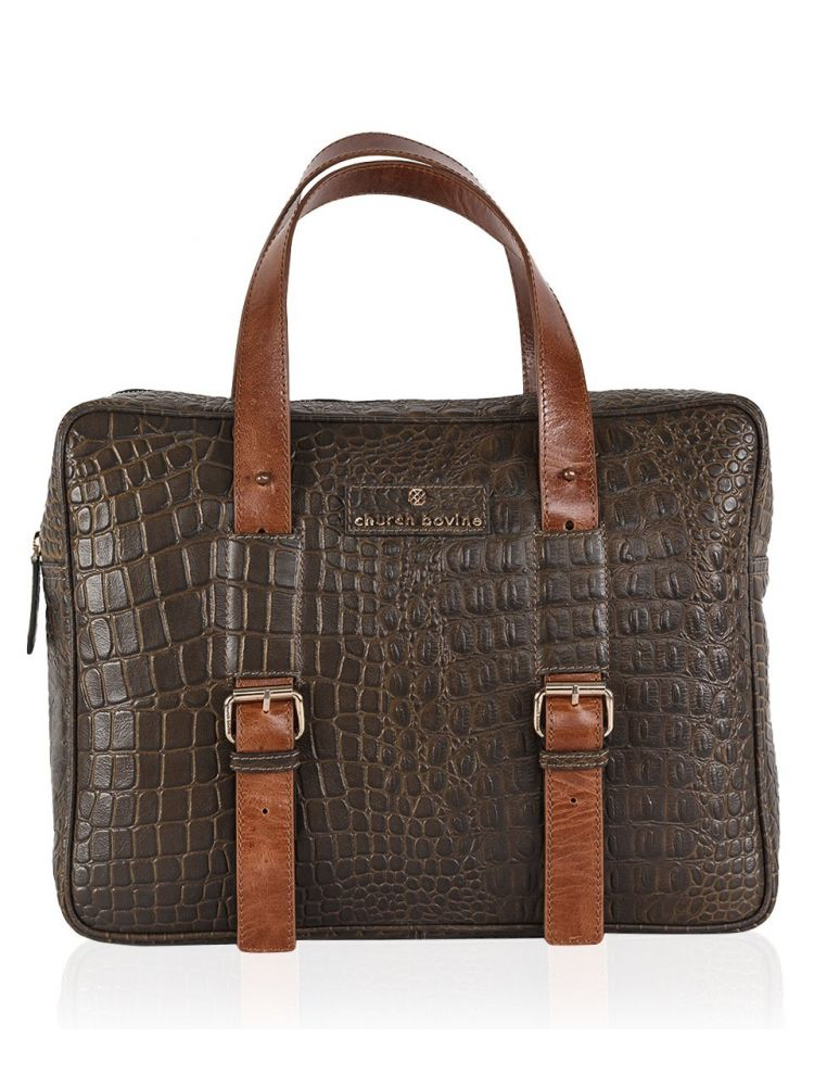 Croco Laptop Bag