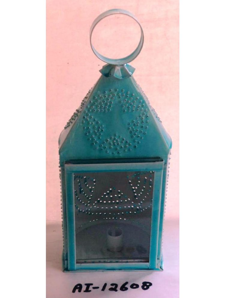 Sea Green Metal Lantern