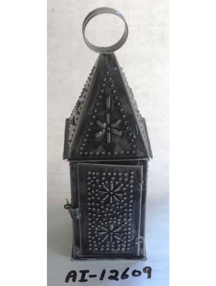 Dark Grey Metal Lantern