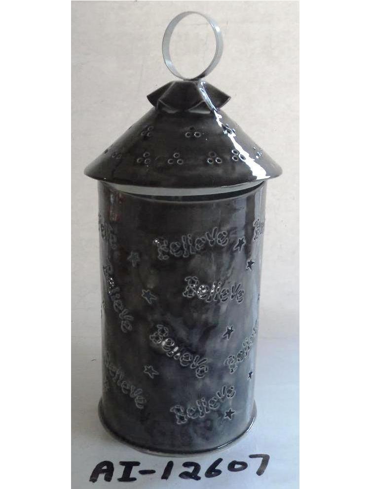 Black Metal Lantern
