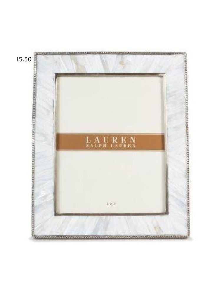 Horizon Collections Silver White Metal Photo Frame