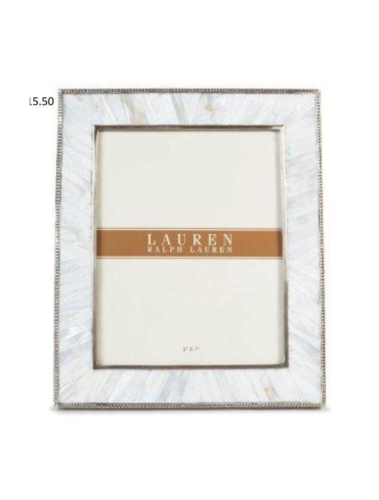 Horizon Collections Silver White Metal Photo Frame
