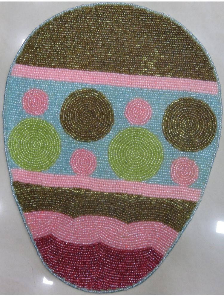 Egg Shape Beaded Placemat