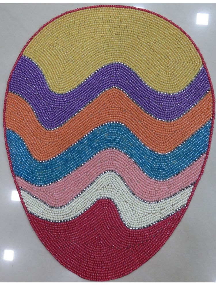 Multi Colour Egg Shape Beaded Placemat