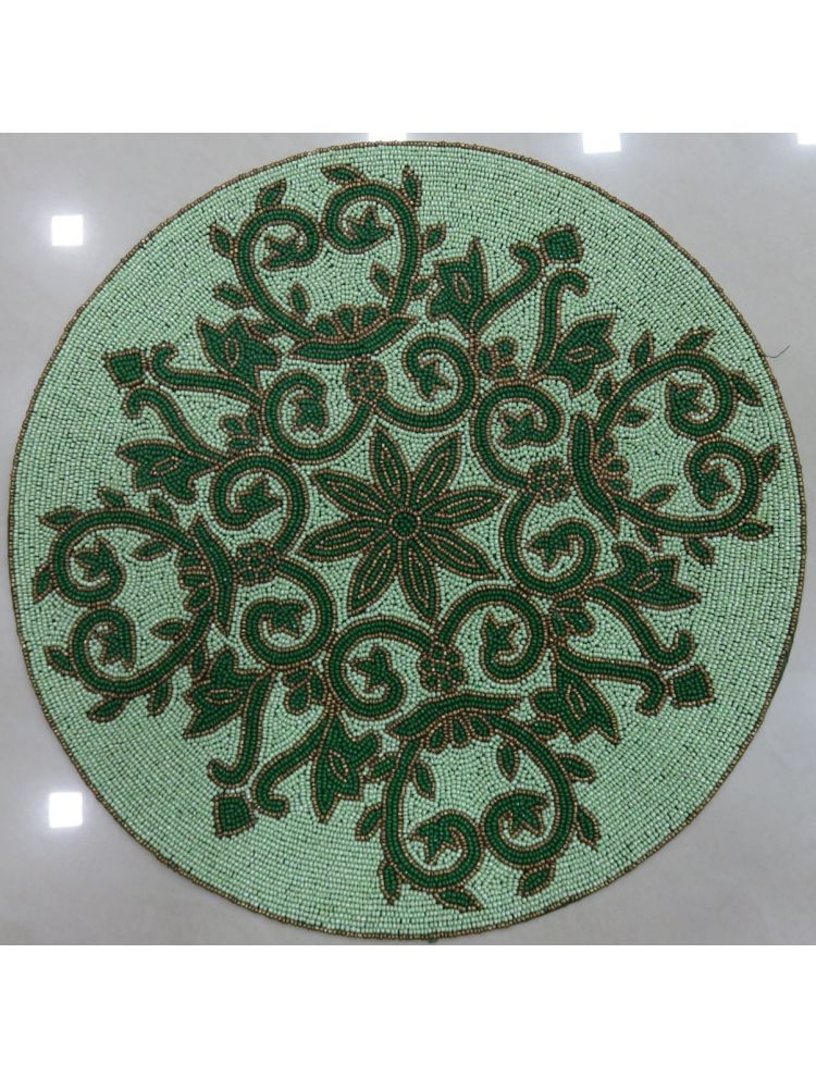 Green Beaded Placemat
