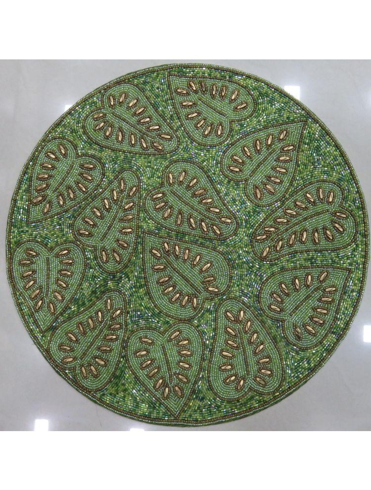 Green & Golden Beaded Placemats