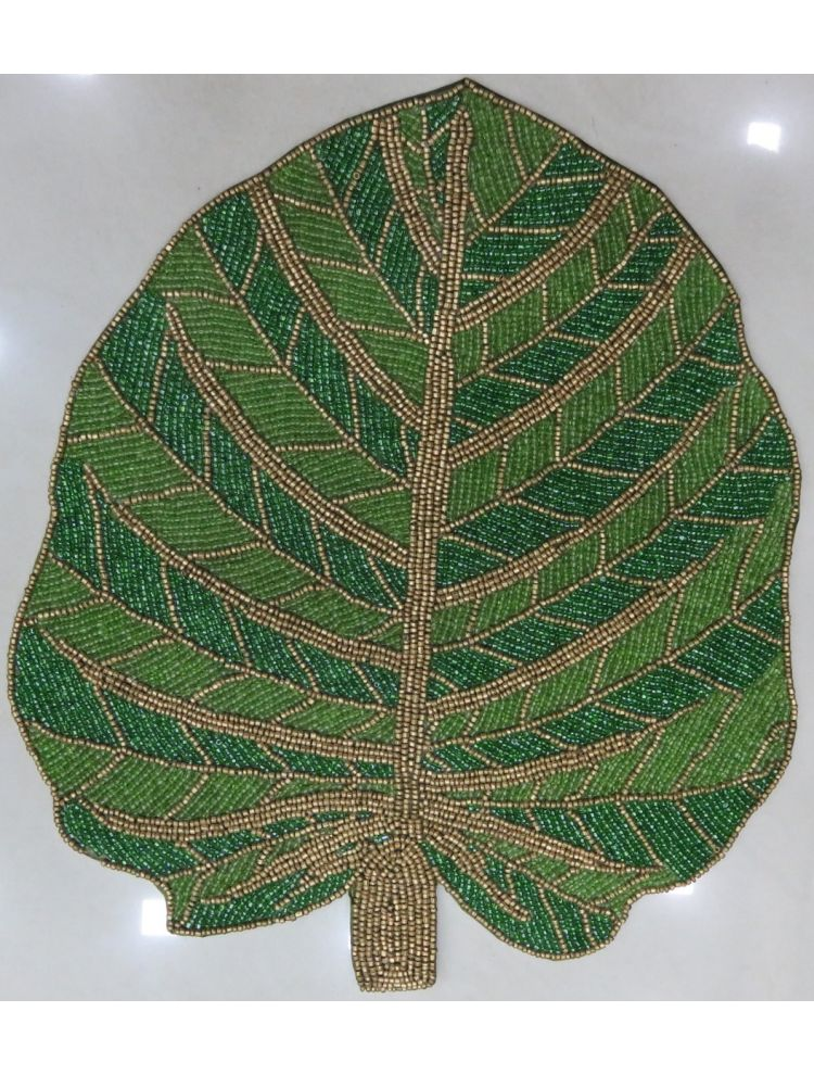 Leaf Beaded Placemat