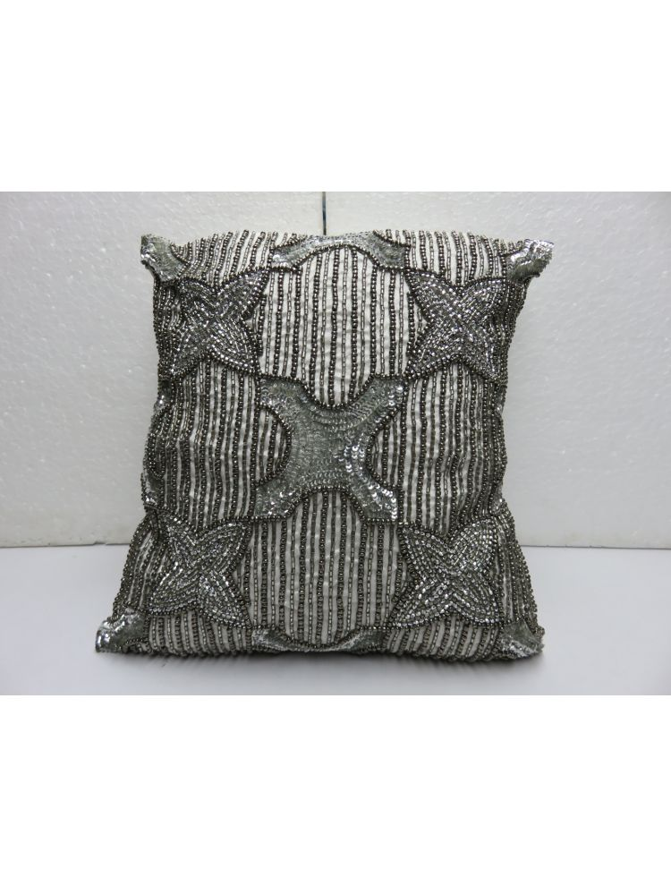 Flower & Cross Cushion Cover