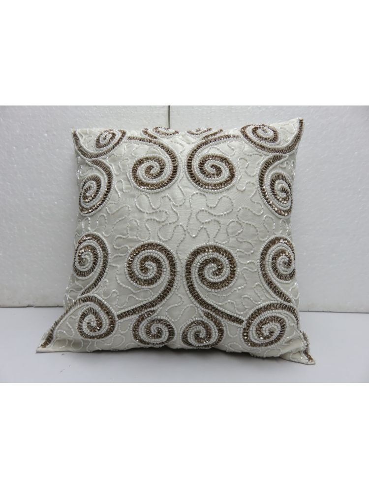 Scoll Beaded Cushion Cover