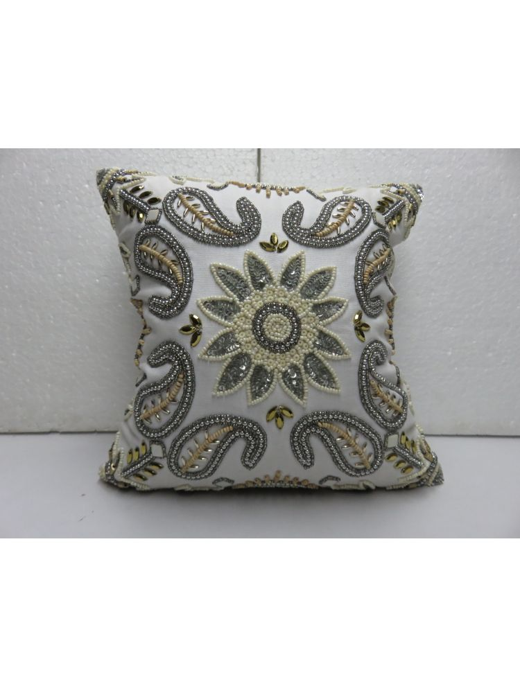 Paisley & Flower Cushion Cover