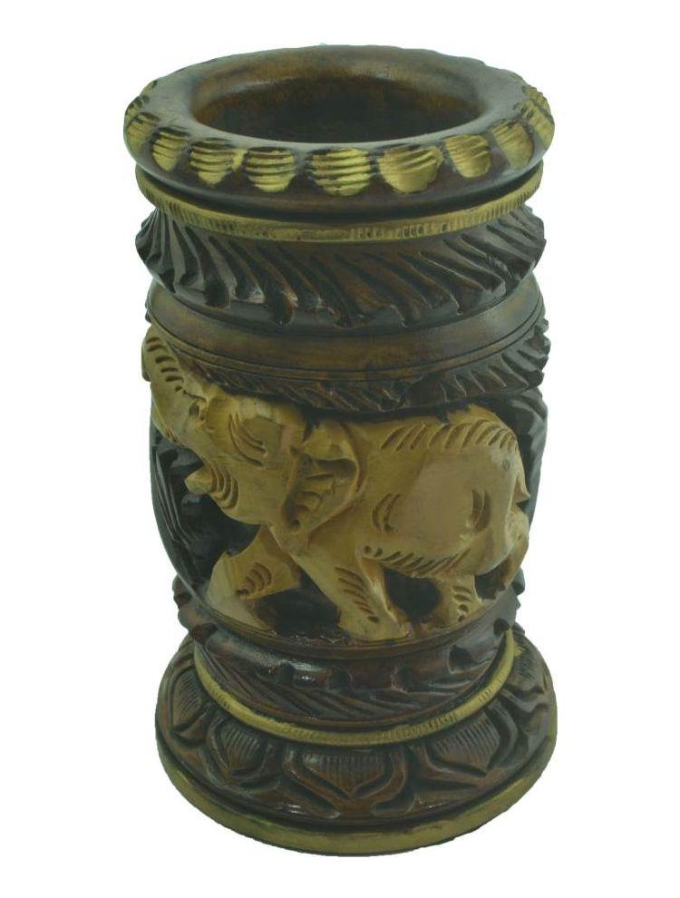 Pen Holder Shikaar Karvin Antique