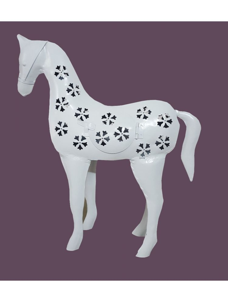 White Colored Decorative Horse Shape Candle Holder