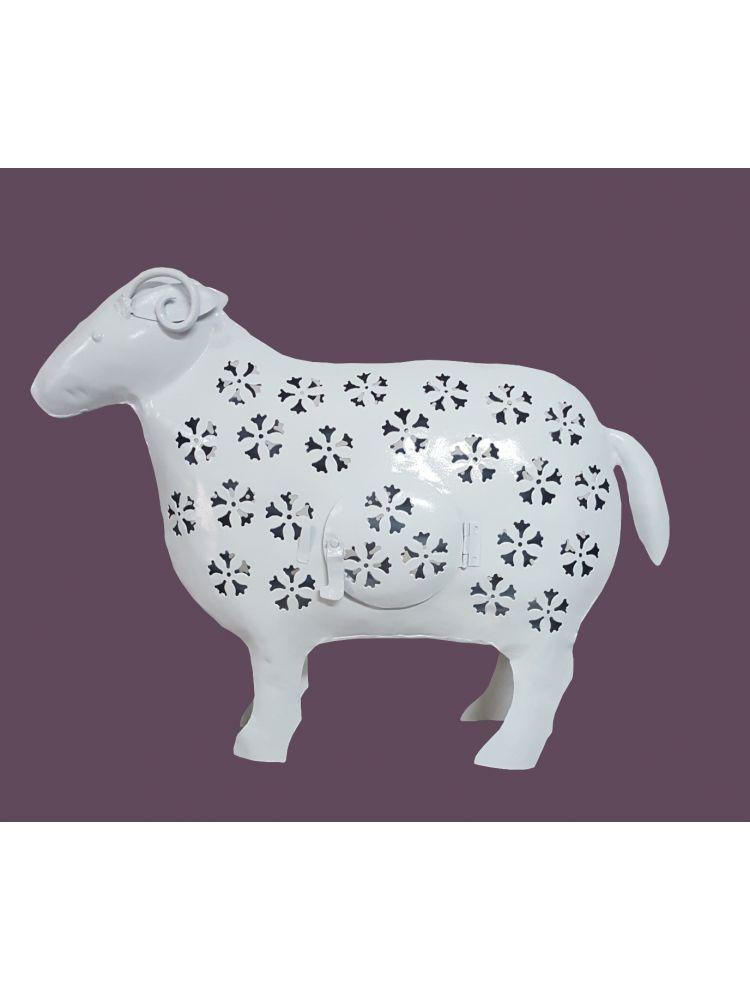 White Colored Decorative Sheep Shape Candle Holder