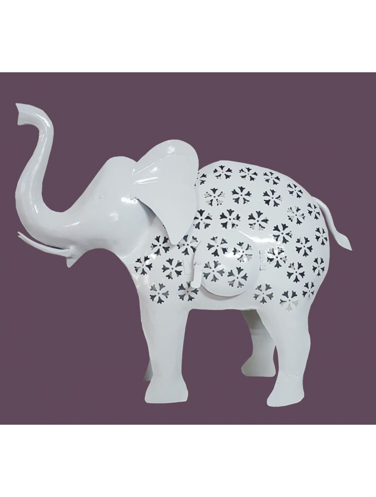 White Colored Decorative Elephant Shape Candle Holder