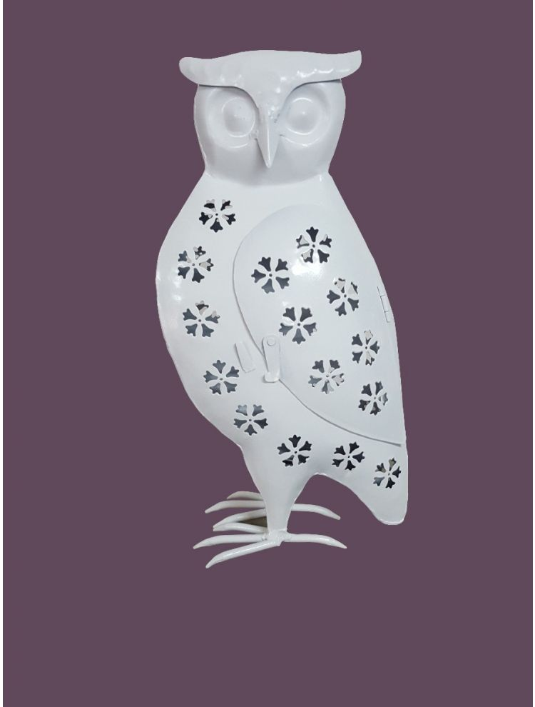 White Colored Decorative Owl Shape Candle Holder