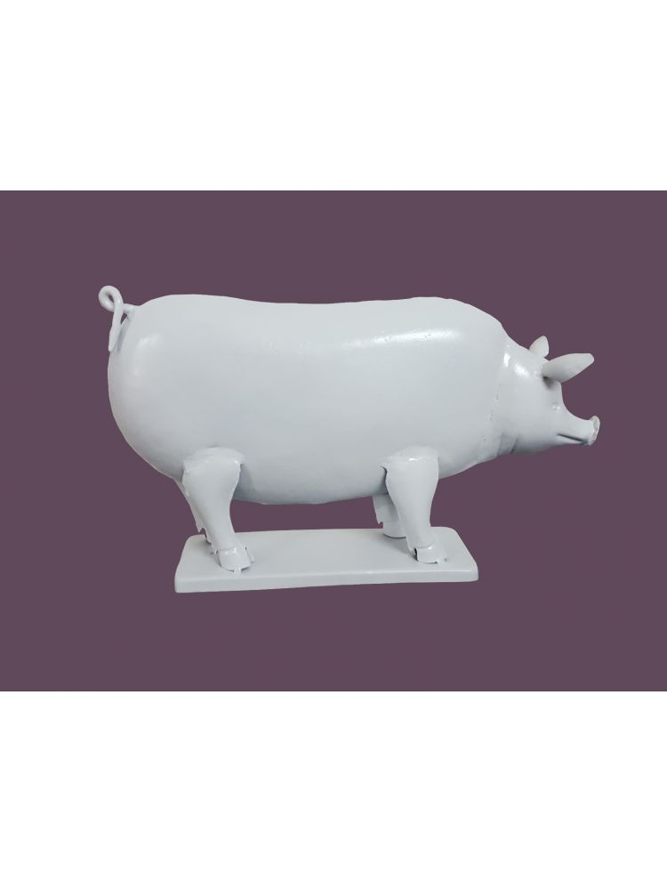 White Colored Decorative Pig Shape Candle Holder
