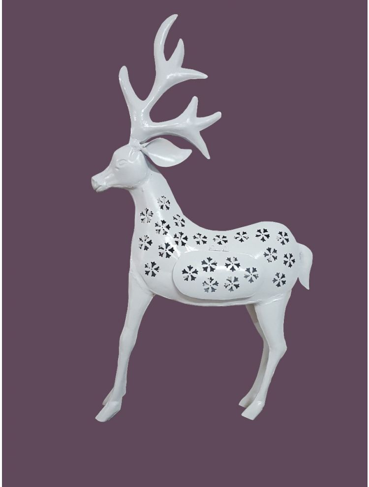 White Colored Decorative Deer Shape Candle Holder