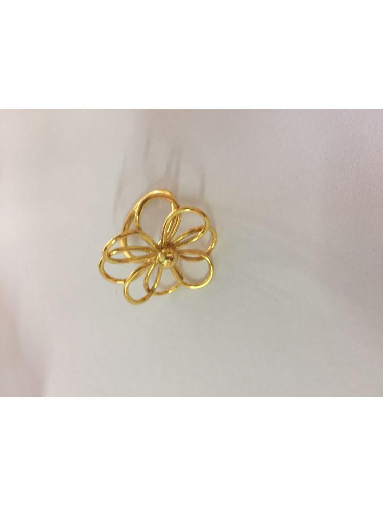 Brass Flower Design Ring