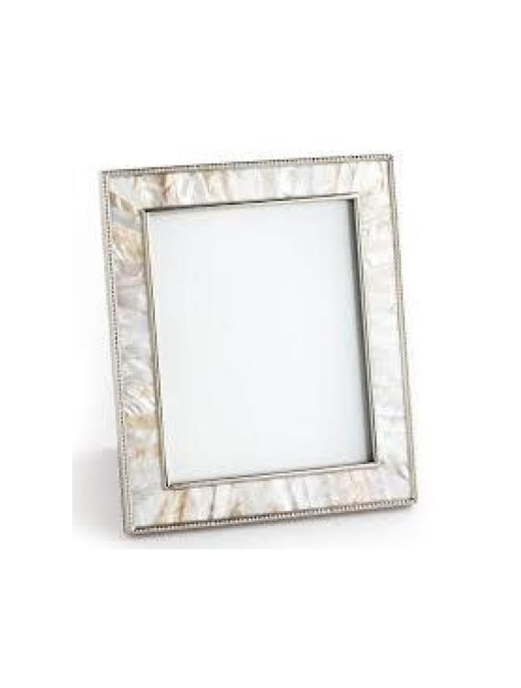 Horizon Collections Silver White Large Metal Photo Frame