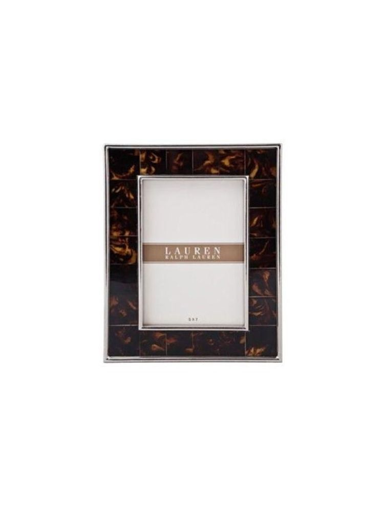 Horizon Collections Tortoise Metal Small Photo Frame