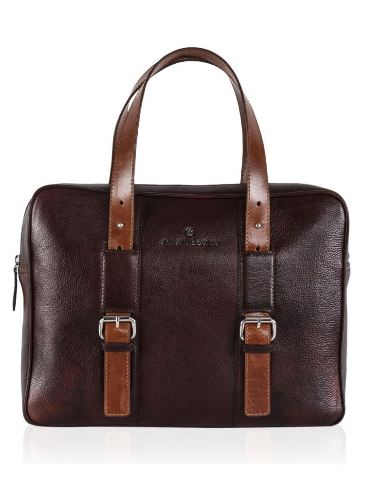 Two Tone Vintage Laptop Bag