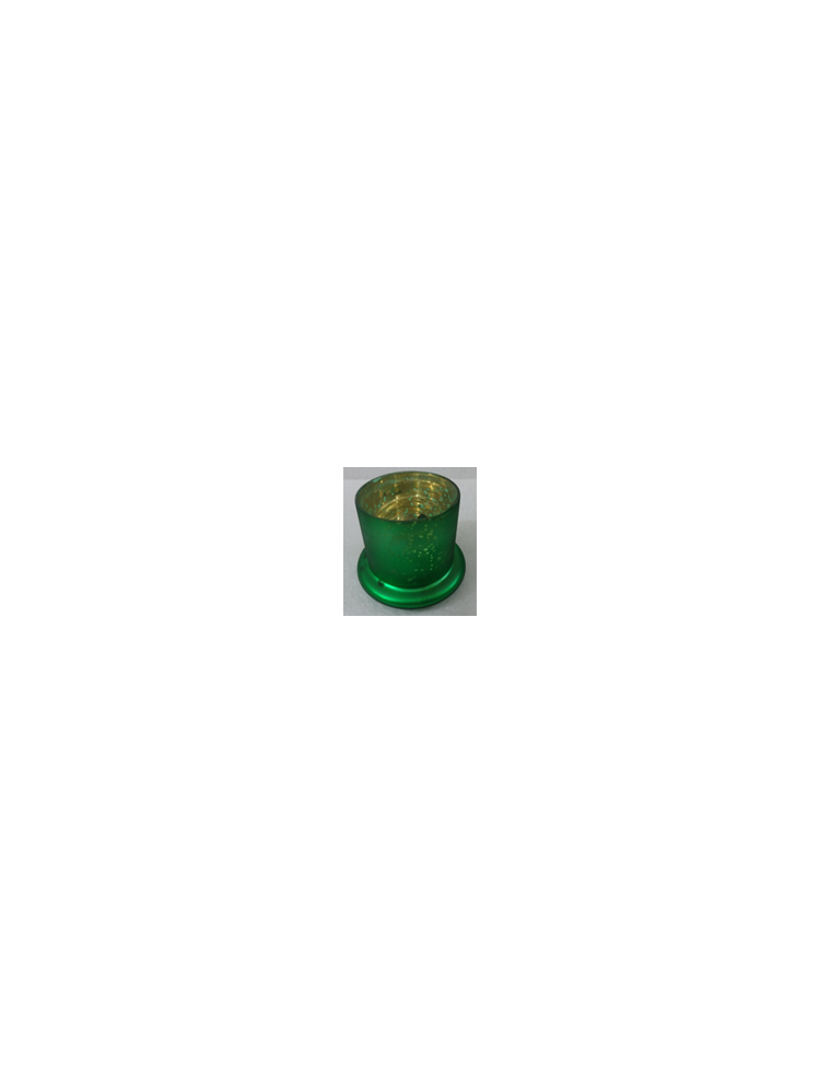 Green Glass Mercury Cloche Small